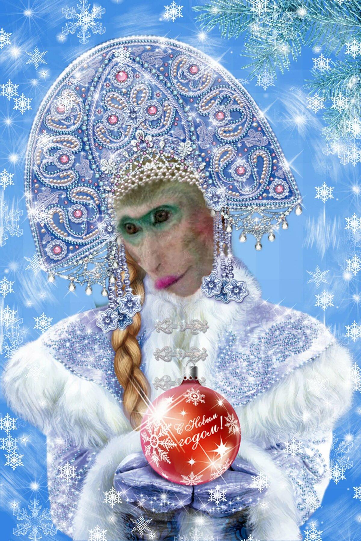 Открытки для снегурочки фото, луной