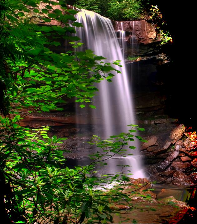 Картинки для, водопад гифка без фона