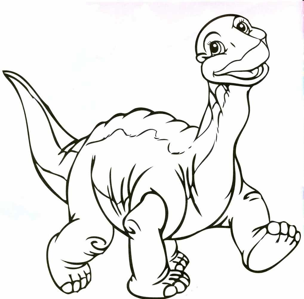 Раскраска Динозавры Распечатать Бесплатно Формат А4