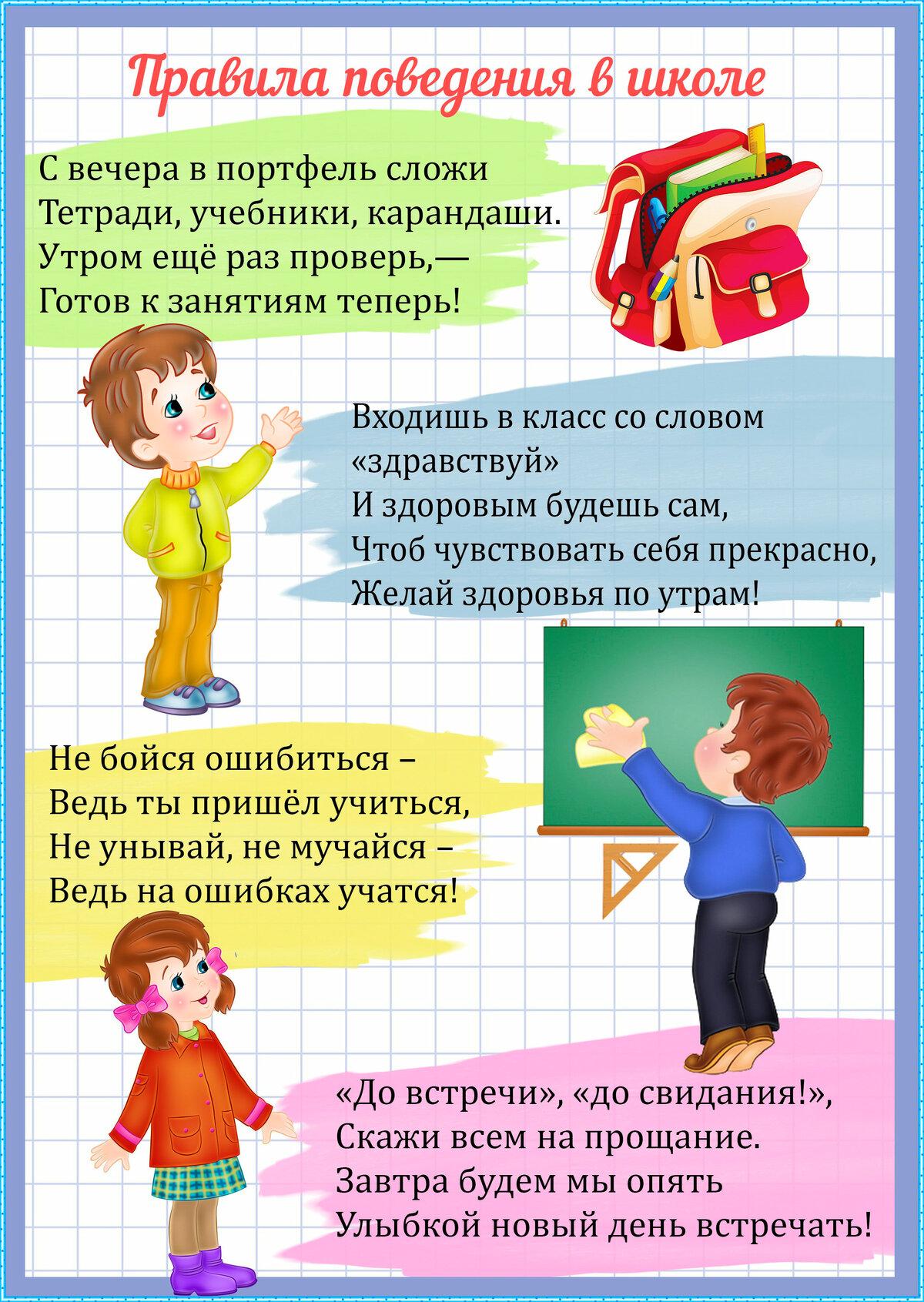Картинки правила в классе