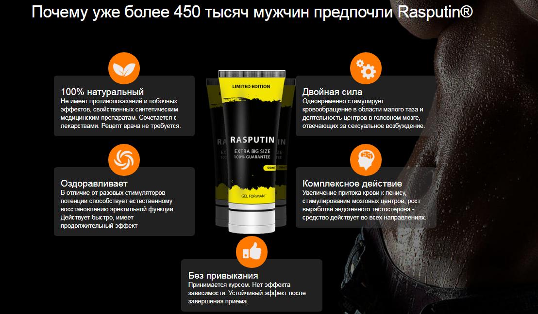 RASPUTIN GEL для увеличения члена в Луганске