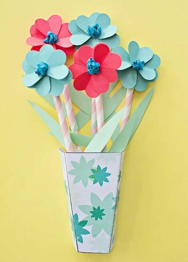десантники открытка с вазой и цветами из бумаги своими этом