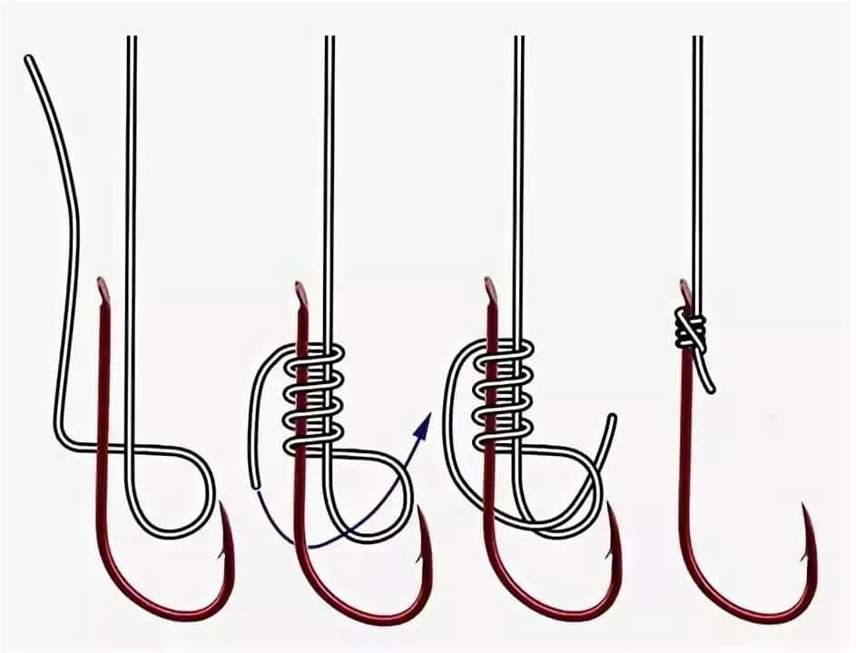 Как завязать рыбацкие крючки