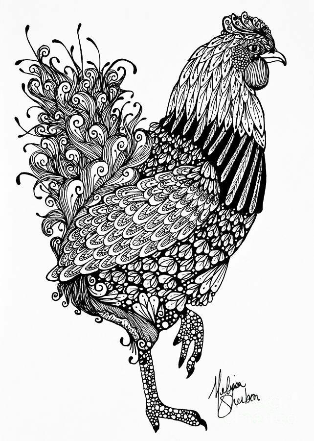 Картинки графика черной ручкой животные