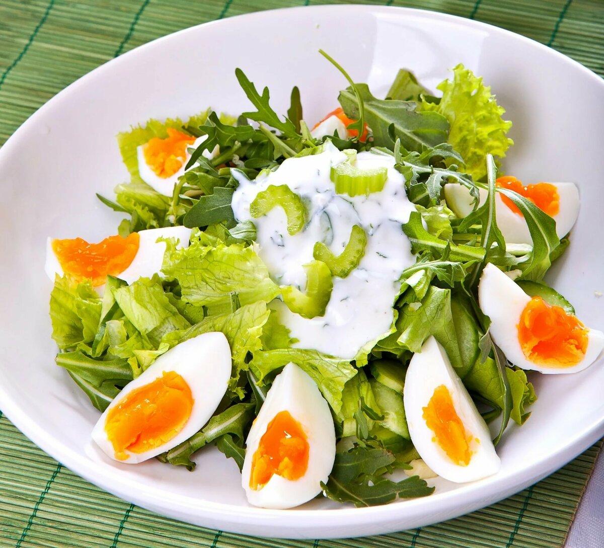 Салаты из яиц с картинками