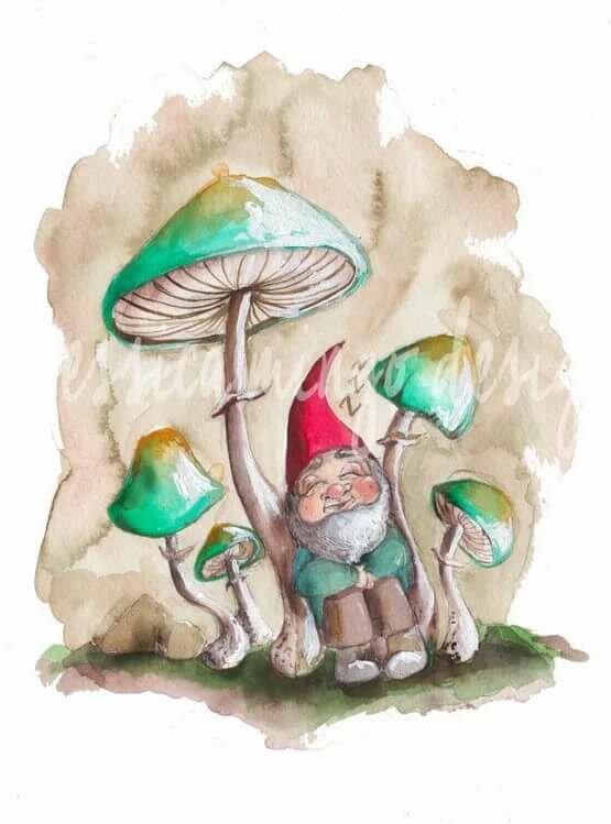 картинка гнома с грибами писать личку