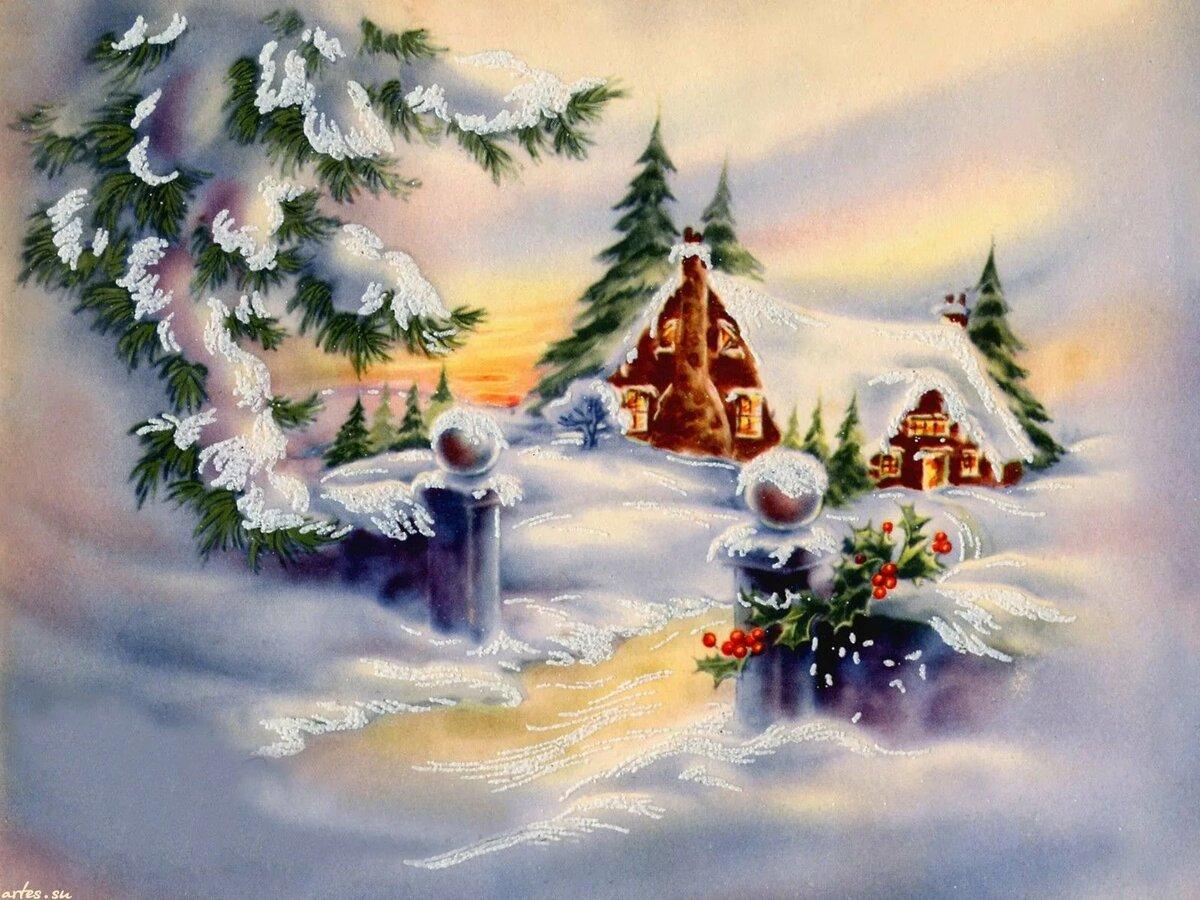 Открытки новый рождество