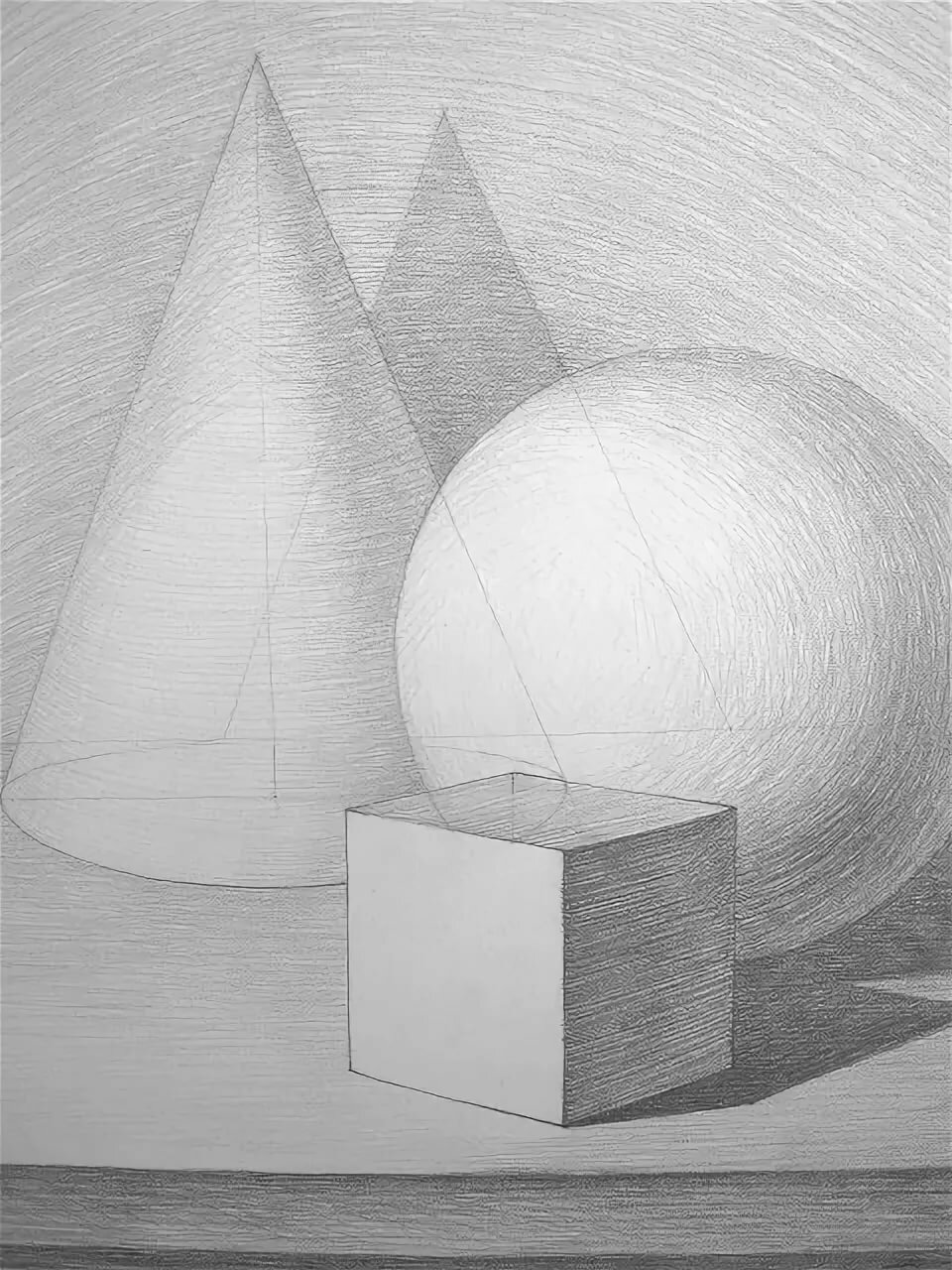 картинка геометрических фигур карандашом мощной аппаратуре