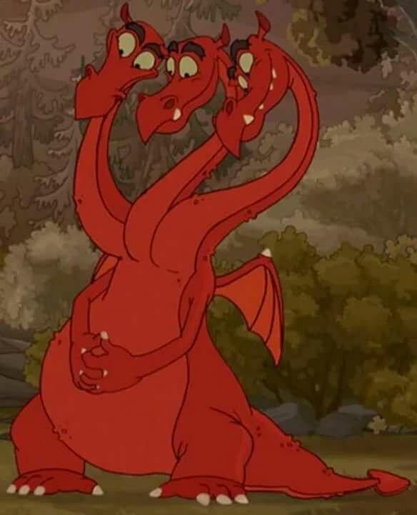 Картинка дракона из мультика три богатыря