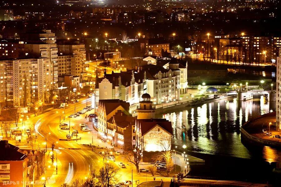 Шикарные фото калининград ночью