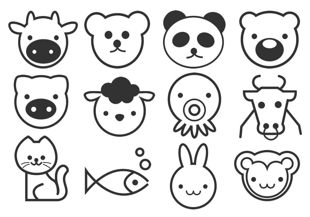 милые рисунки животных распечатать софт