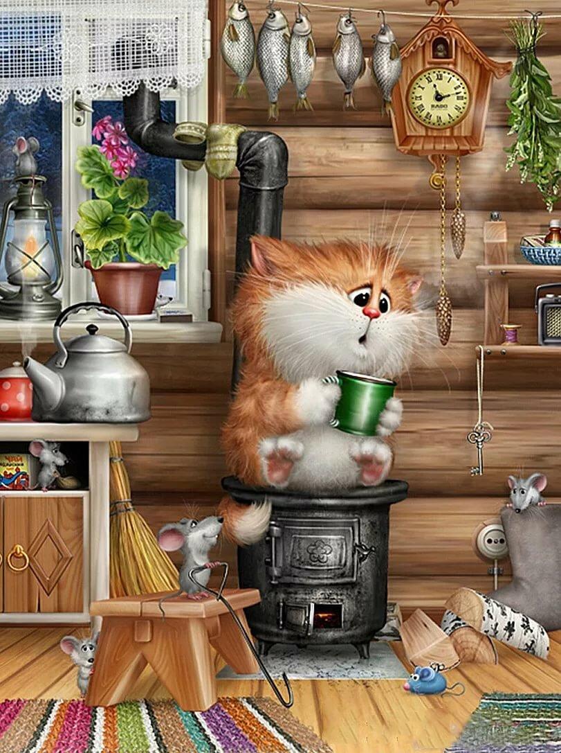 Картинки итальянская, открытки с котами и мышами