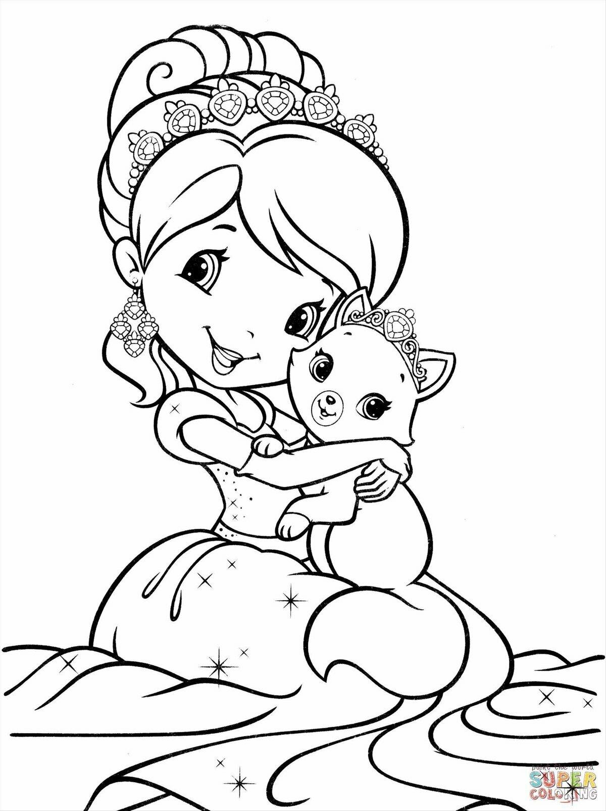 Картинки из мультиков для девочек раскраски