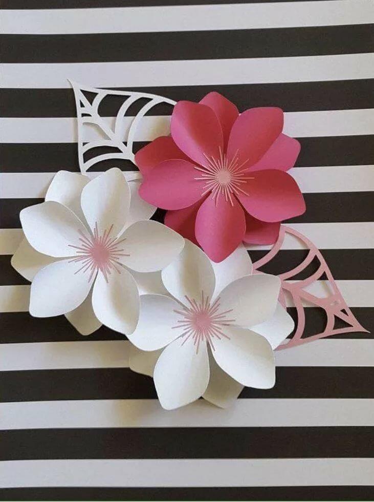 Объемные цветы из бумаги своими руками открытка