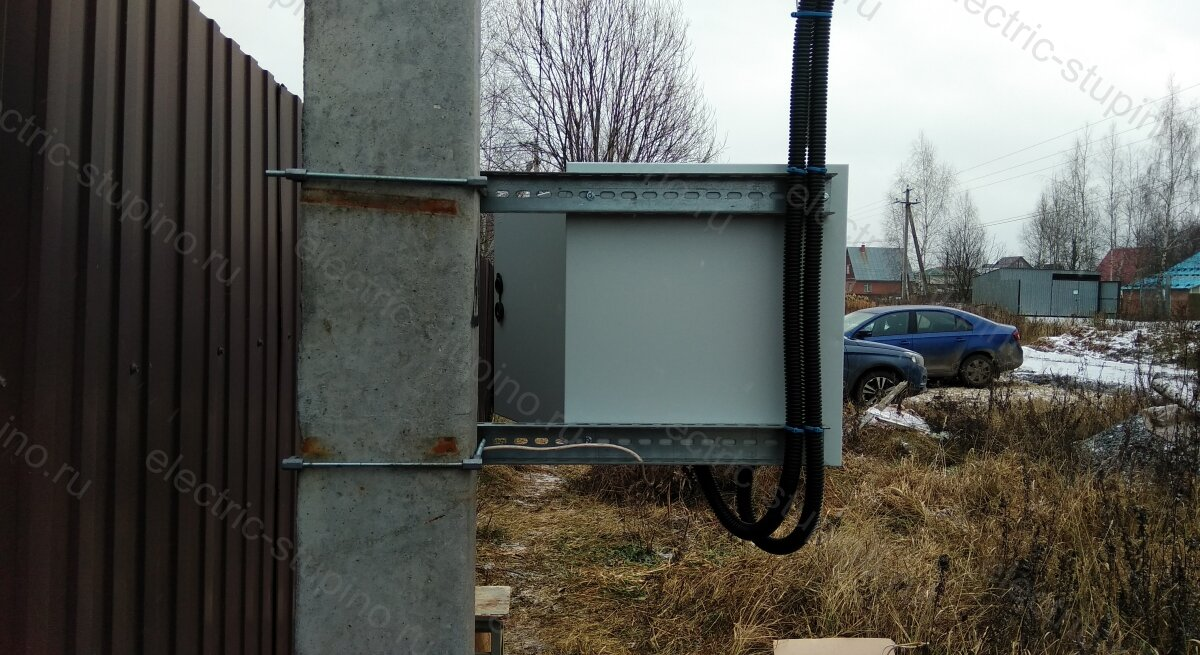 Прокладка кабеля для электрощита на 15 кВт