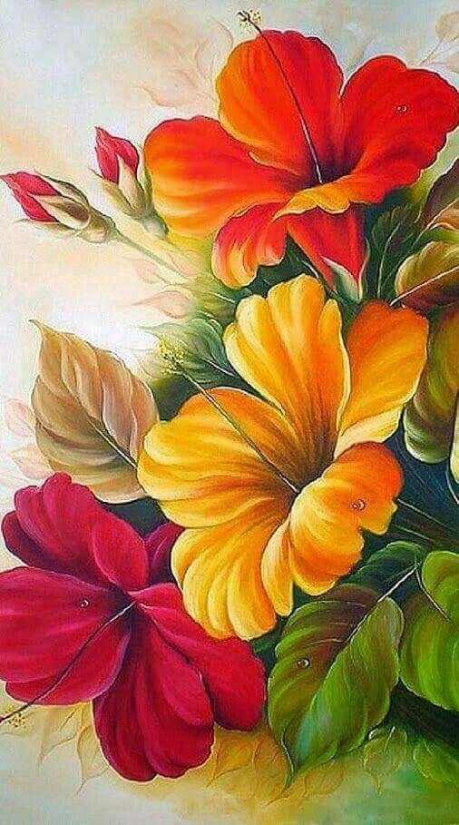 Цветные картинки с цветами, поздравления для