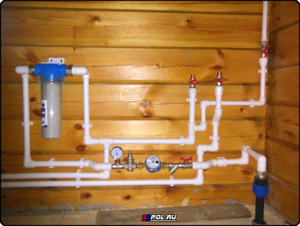ввести воду в частный дом