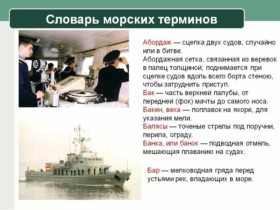 Морские термины картинки