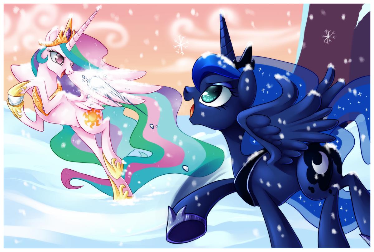 Картинки про пони принцессы луны и селестии