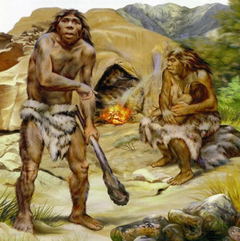 Картинки древних людей с детьми