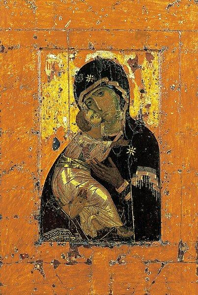 26 августа 1395 года вМоскву из Владимира перенесена Владимирская икона Пресвятой Богородицы