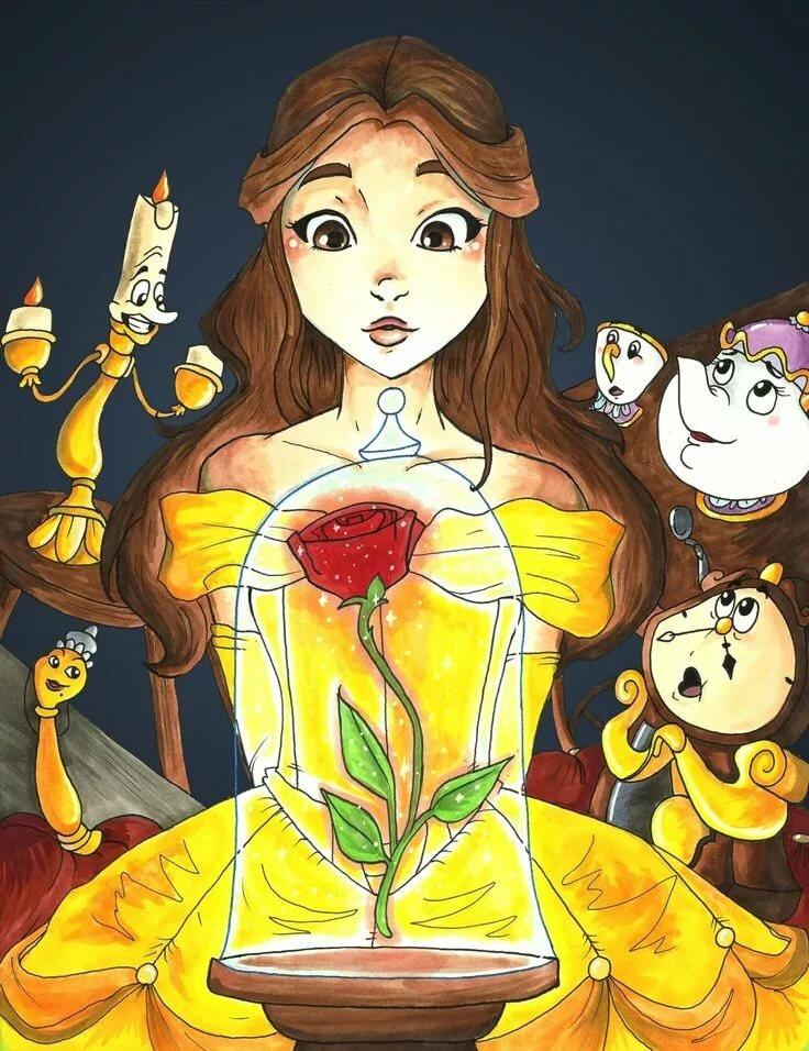 Принцессы диснея картинки арты рисунки