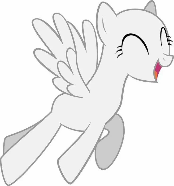 Картинки для срисовки пони без гривы и хвоста маленькие