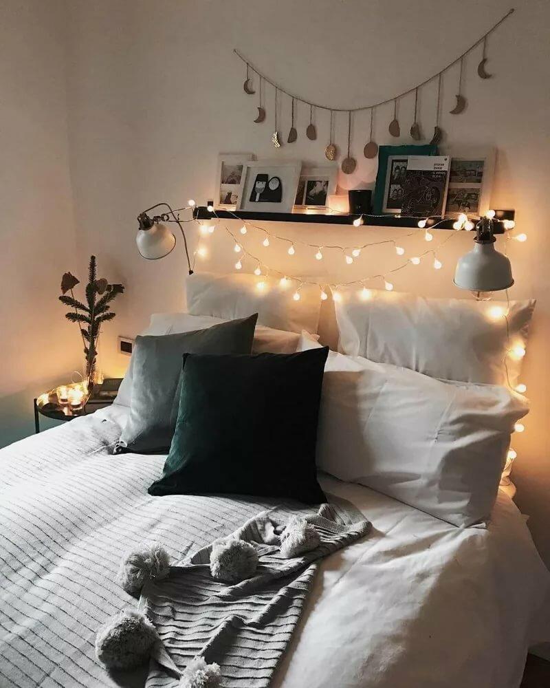 Оформление спальни картинки на кровати