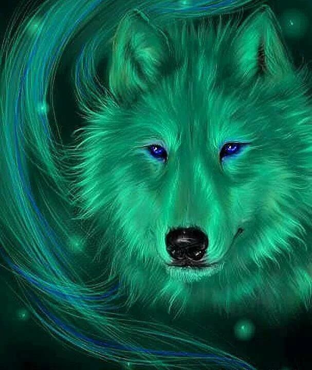 картинки сверкающих волков коже камни красиво
