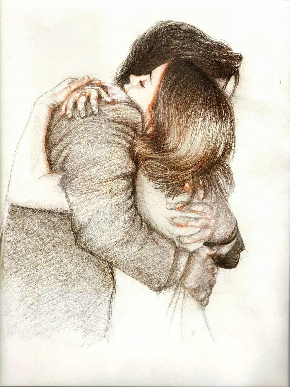 Картинки где обнимаются люди