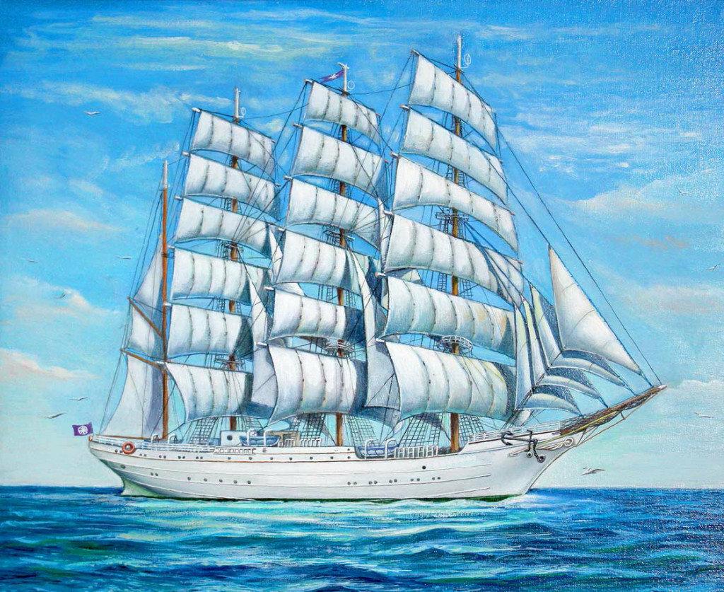 Кораблик картинки рисование по номерам
