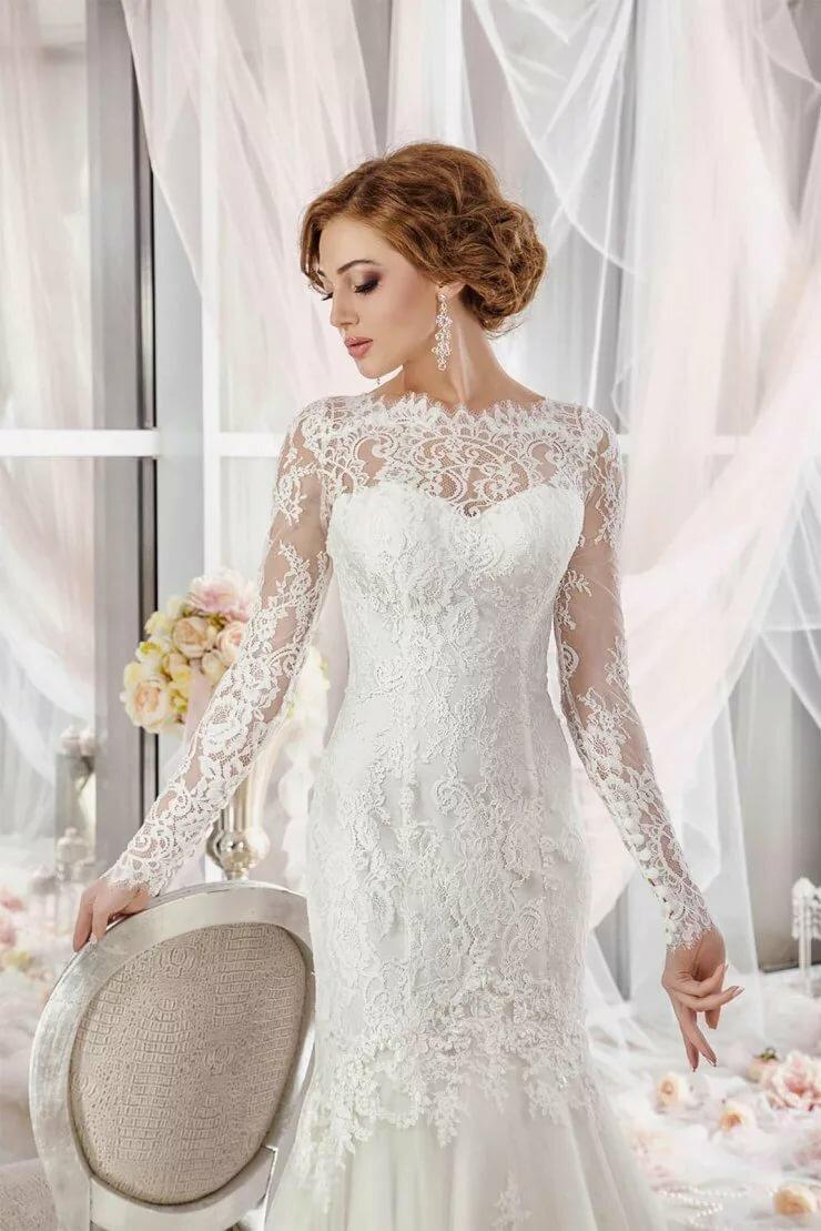 Свадебные кружевные платья картинки