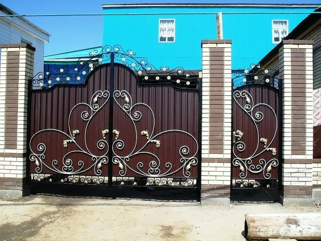 узоры на воротах из профнастила своими руками