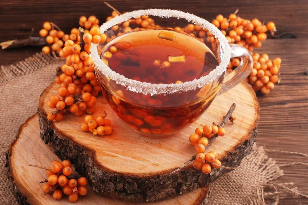 Доброе утро картинки облепиховый чай