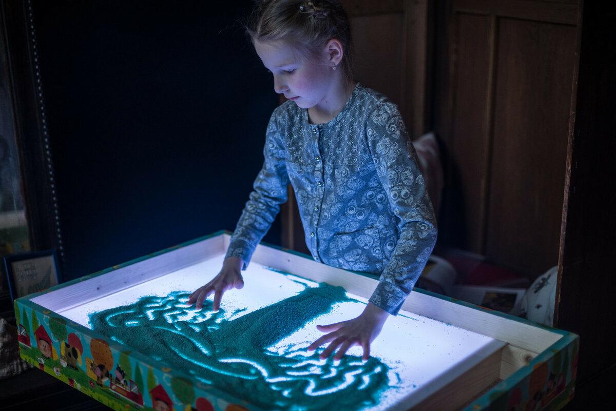Детский светящийся планшет воображай песком в Житомире