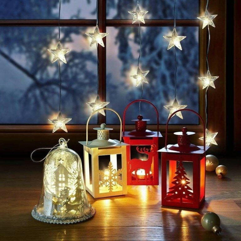Новогодний фонарик гиф