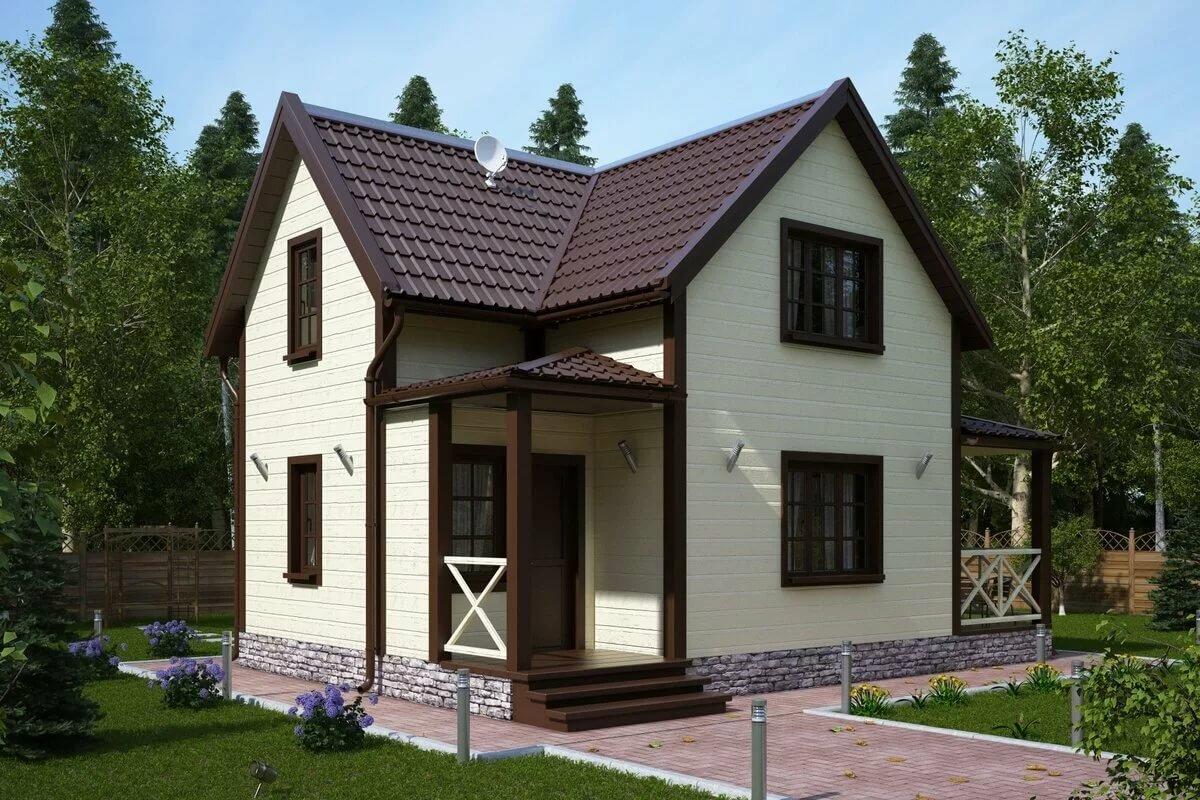 Коричневый дом картинка