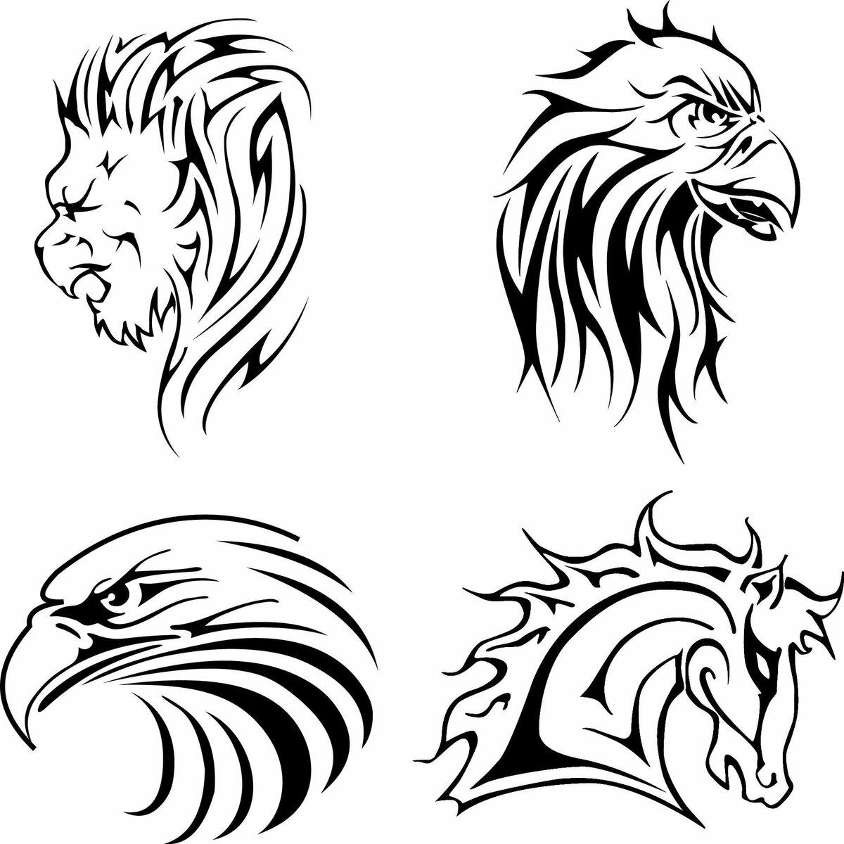 Татуировки животных картинки