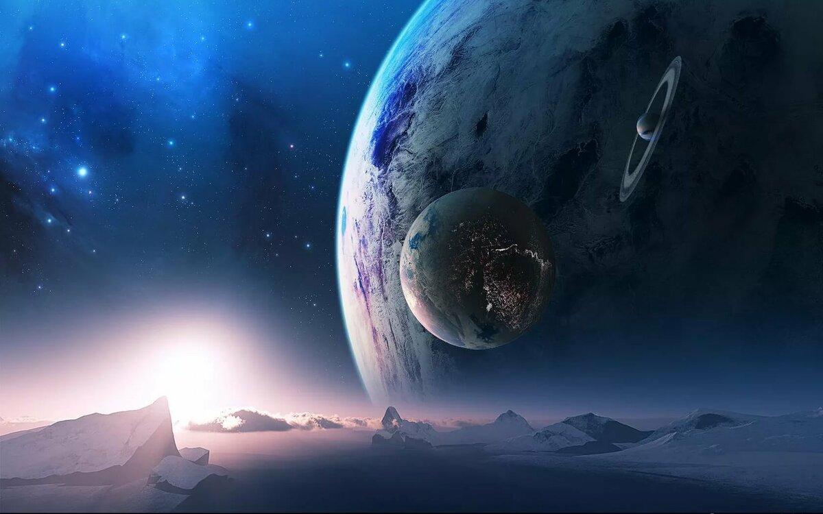 Рисунки фото фантастика космос