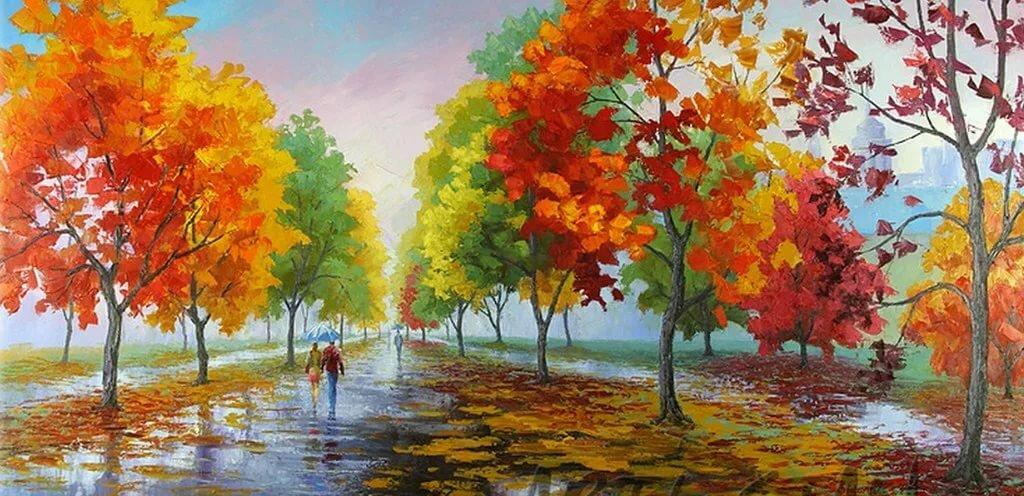 Фото рисунки на тему осень