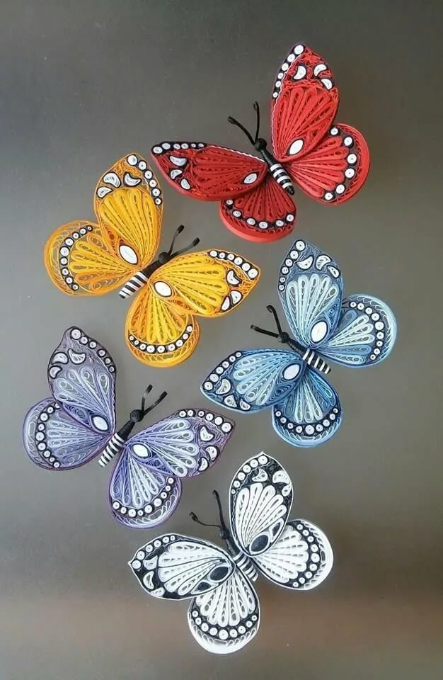 Квиллинг бабочка, квиллинг схемы, мастер-класс по созданию бабочки ...   960x626