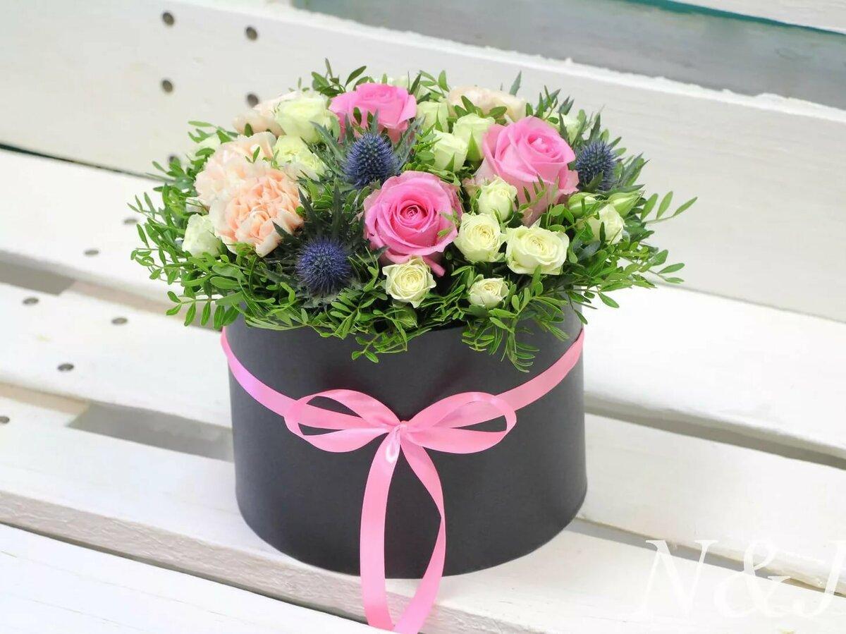Как составить цветочный букет в коробке своими руками, цветов москва