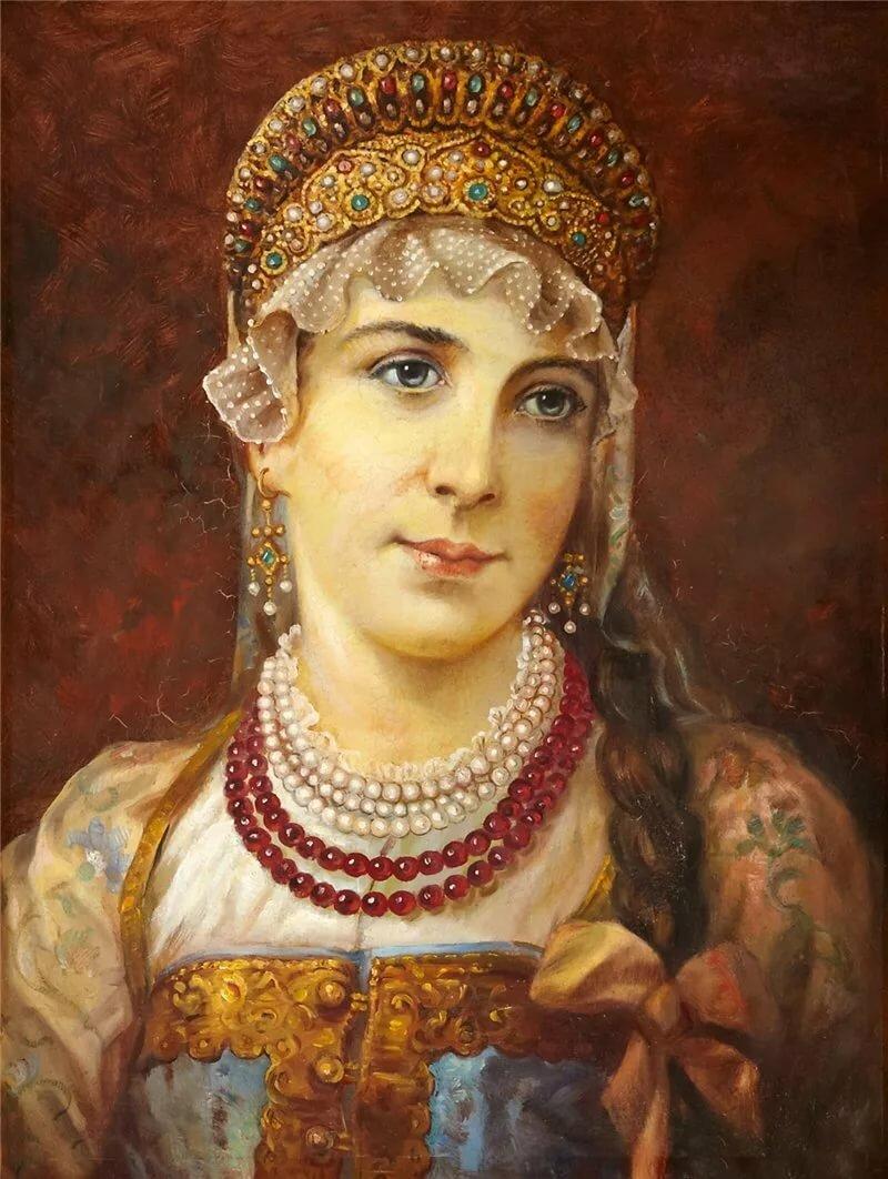 Картина русская красавица