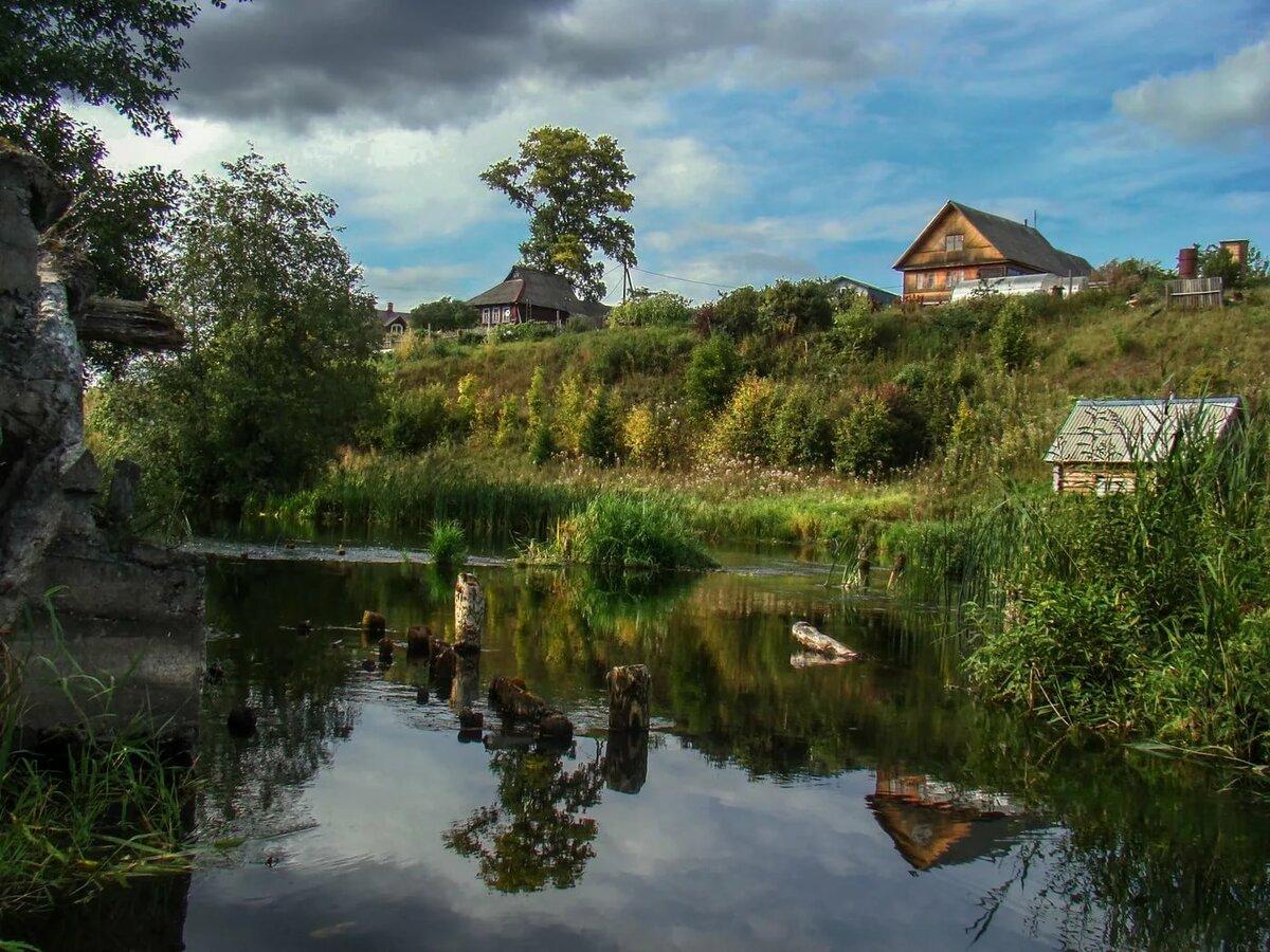 Фото реки в деревне