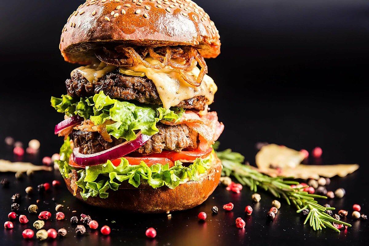 Сочный бургер в картинках