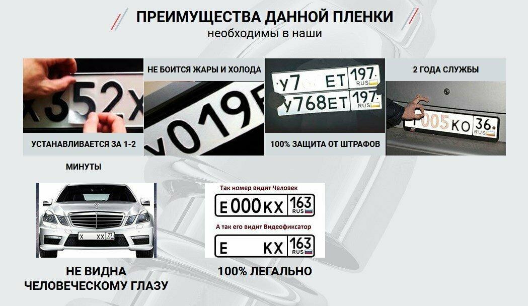 Нанопленка на номера в Подольске