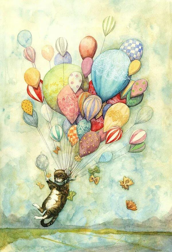 Про, рисунки для акварельных открыток