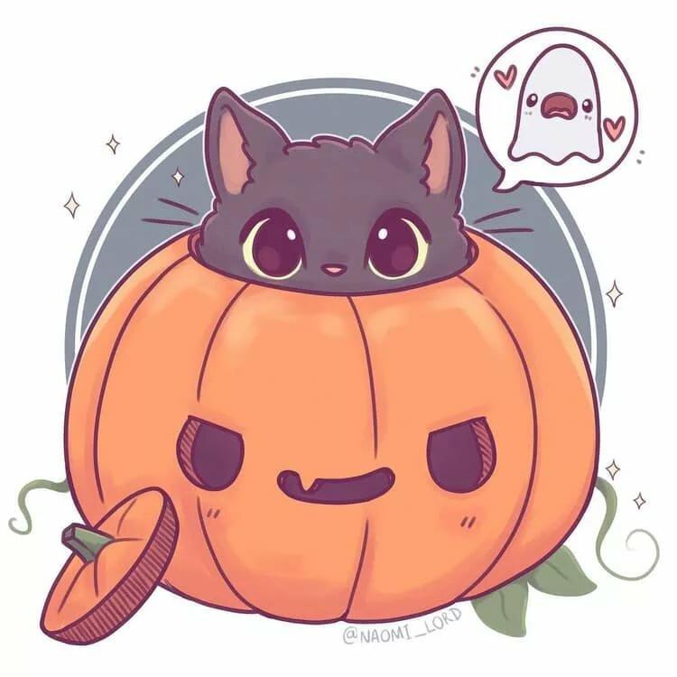 милые хэллоуинские картинки при этом