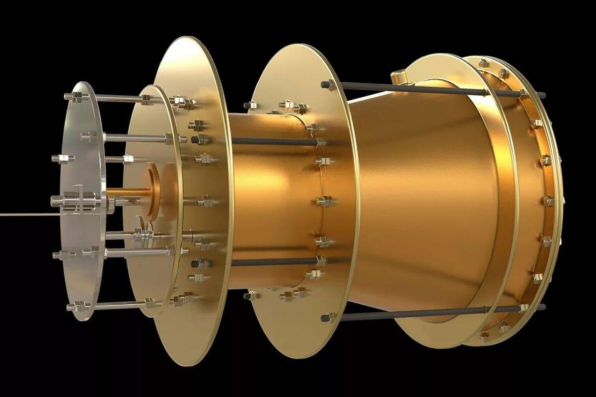 зелёного цвета фотонный двигатель на спутниках морской