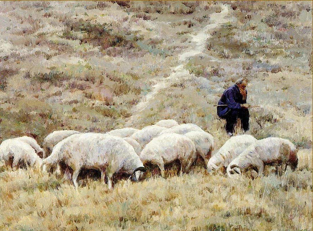 картинка пастуха с бараном касается технической
